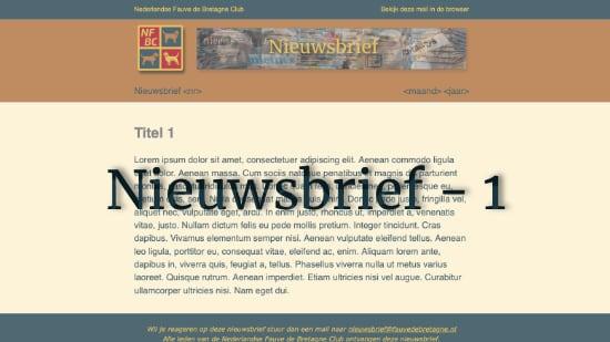 Nieuwsbrief – 1