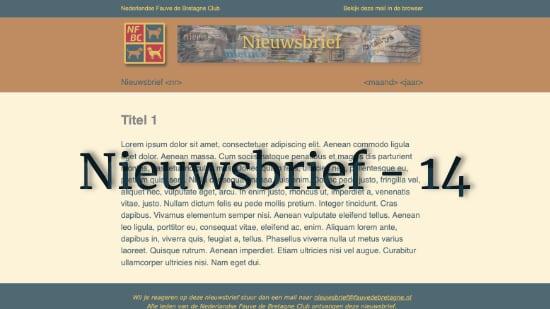 Nieuwsbrief – 14