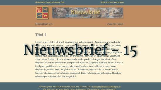Nieuwsbrief – 15