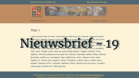 Nieuwsbrief – 19