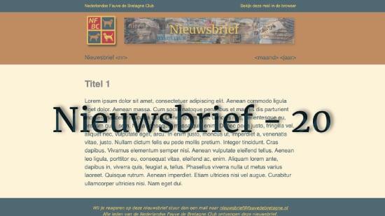 Nieuwsbrief – 20