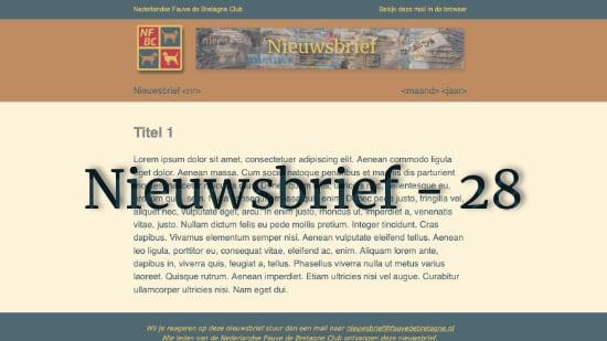 Nieuwsbrief – 28