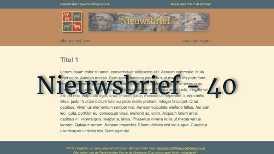 Nieuwsbrief – 40