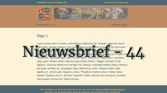 Nieuwsbrief – 44