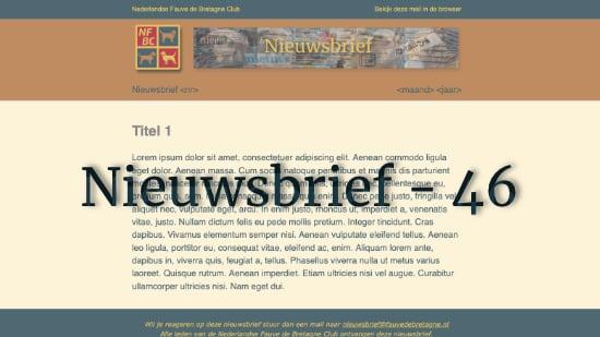Nieuwsbrief – 46