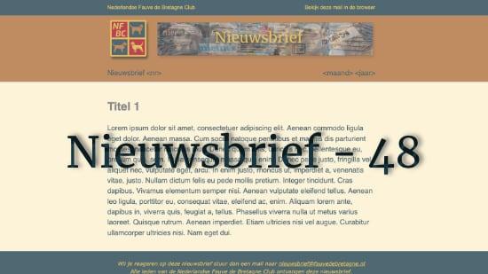 Nieuwsbrief – 48