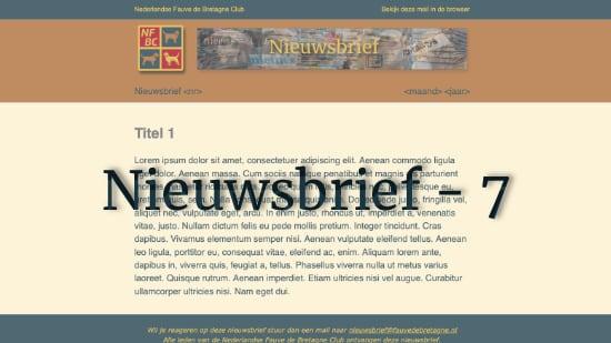 Nieuwsbrief – 7